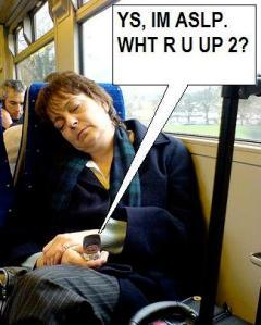 texting & sleeping