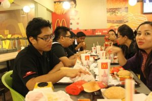 at mcD after SCREAM!